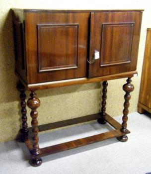 Cabinet - solid wood, walnut veneer - 1860