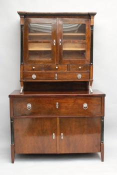 Cabinet - walnut wood - Biedermeier - 1800